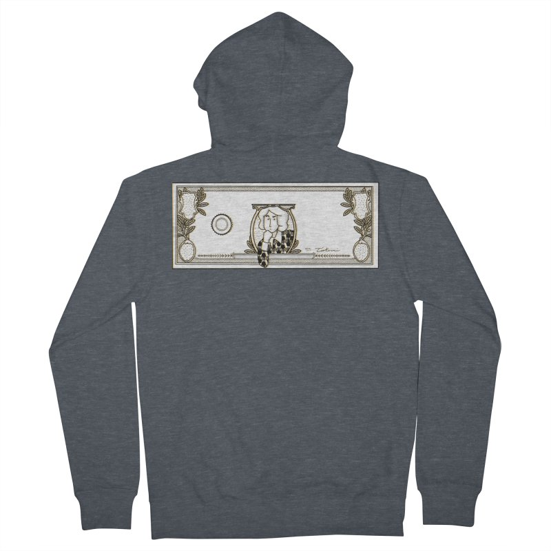 The color of money Men's French Terry Zip-Up Hoody by Tostoini