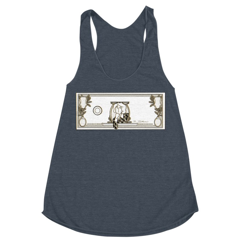 The color of money Women's Racerback Triblend Tank by Tostoini