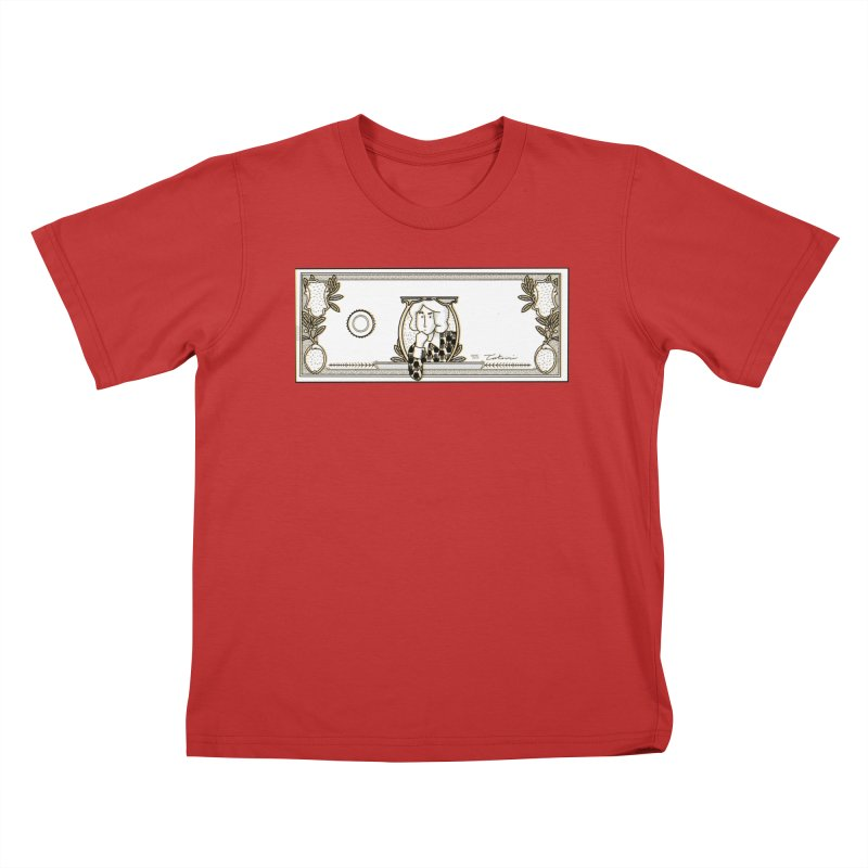 The color of money Kids T-Shirt by Tostoini