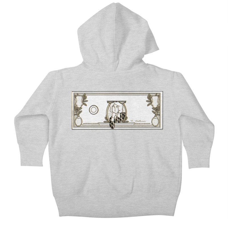 The color of money Kids Baby Zip-Up Hoody by Tostoini