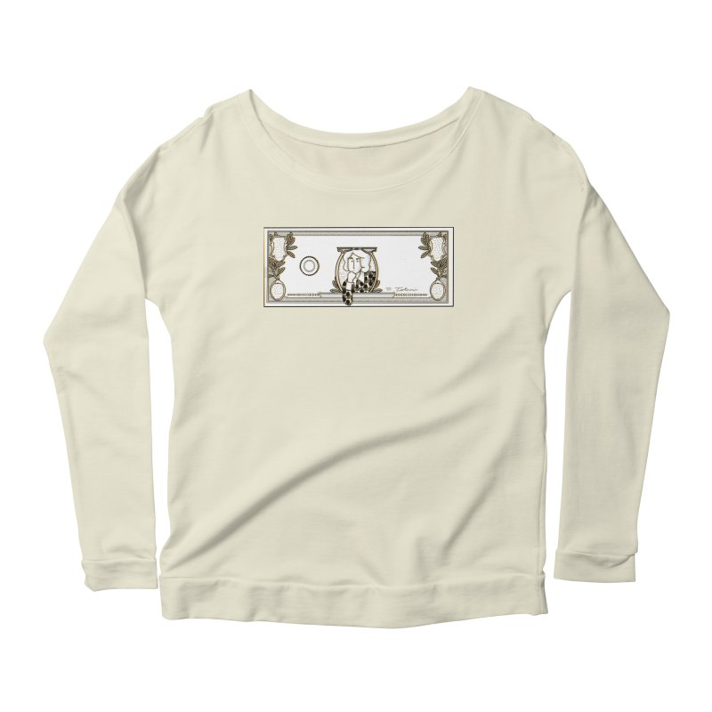 The color of money Women's Scoop Neck Longsleeve T-Shirt by Tostoini