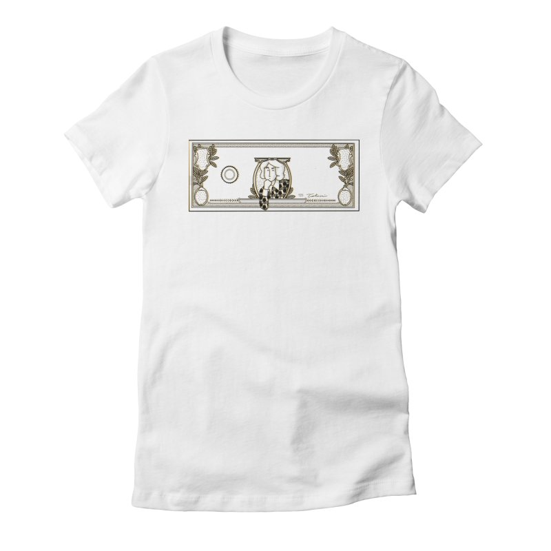 The color of money Women's Fitted T-Shirt by Tostoini