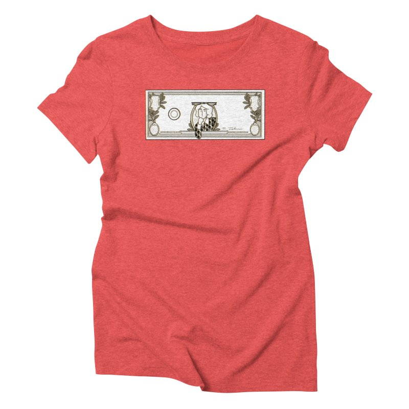 The color of money Women's Triblend T-Shirt by Tostoini