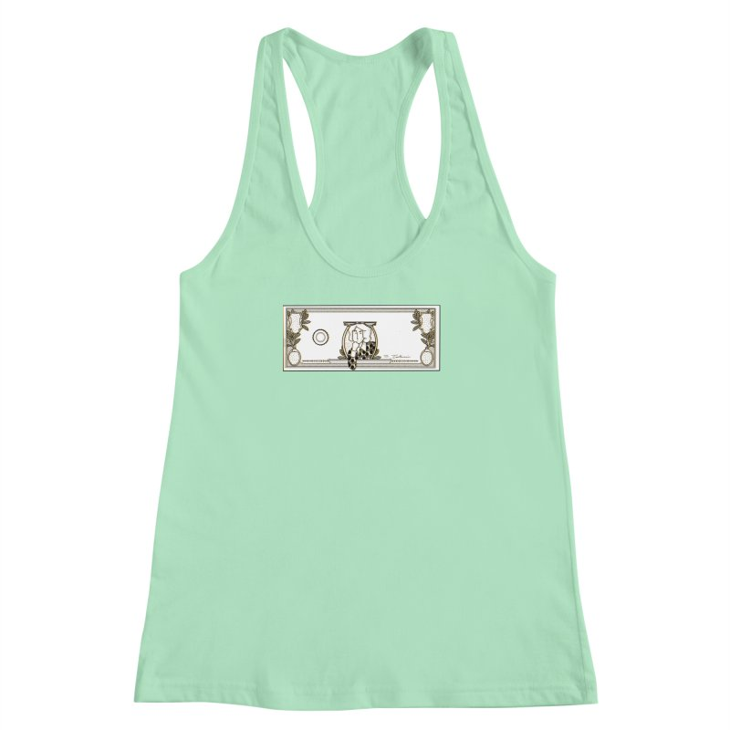 The color of money Women's Racerback Tank by Tostoini