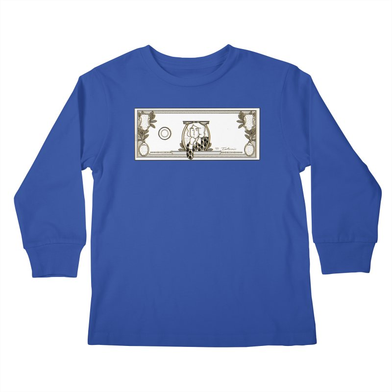 The color of money Kids Longsleeve T-Shirt by Tostoini