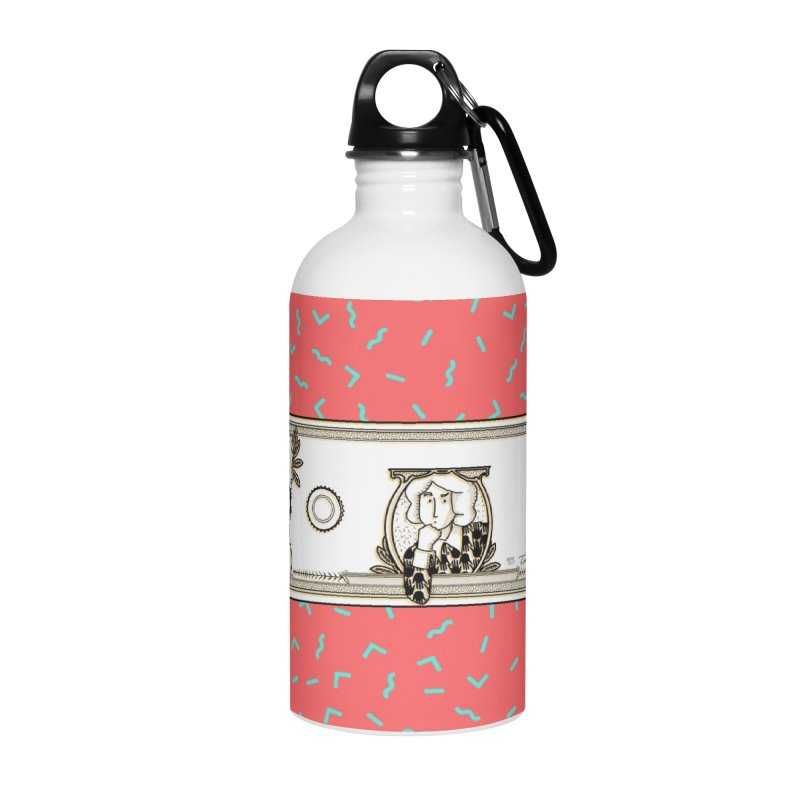 The color of money Accessories Water Bottle by Tostoini