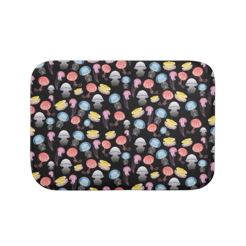 Jellyfishes of the Mediterranean Sea Home Bath Mat by Tostoini