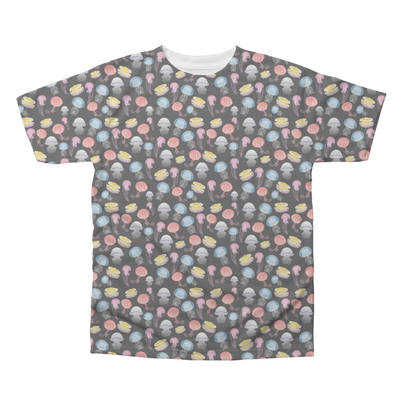 Jellyfishes of the Mediterranean Sea Men's Triblend All Over Print by Tostoini