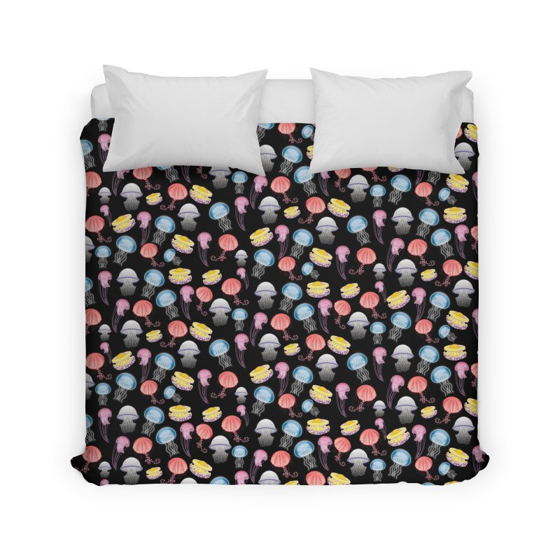 Jellyfishes of the Mediterranean Sea Home Duvet by Tostoini