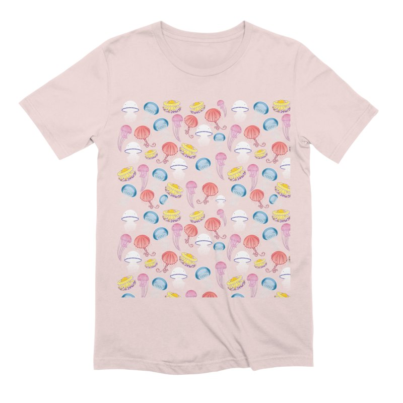 Jellyfishes of the Mediterranean Sea Men's Extra Soft T-Shirt by Tostoini