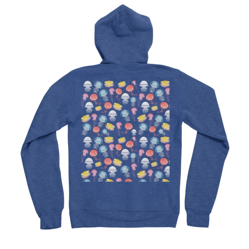 Jellyfishes of the Mediterranean Sea Women's Sponge Fleece Zip-Up Hoody by Tostoini