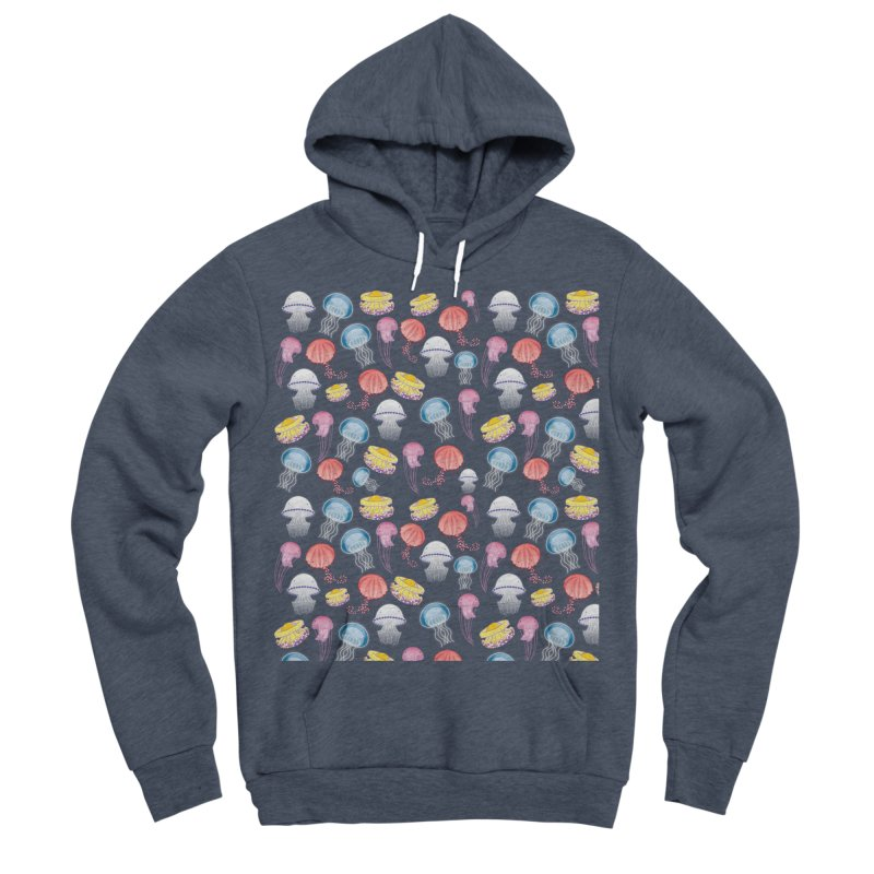 Jellyfishes of the Mediterranean Sea Women's Sponge Fleece Pullover Hoody by Tostoini