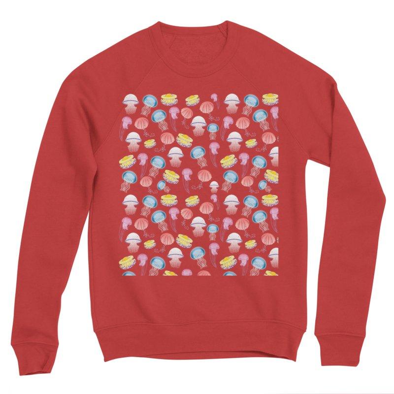 Jellyfishes of the Mediterranean Sea Men's Sponge Fleece Sweatshirt by Tostoini