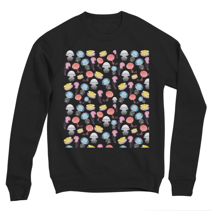 Jellyfishes of the Mediterranean Sea Women's Sponge Fleece Sweatshirt by Tostoini