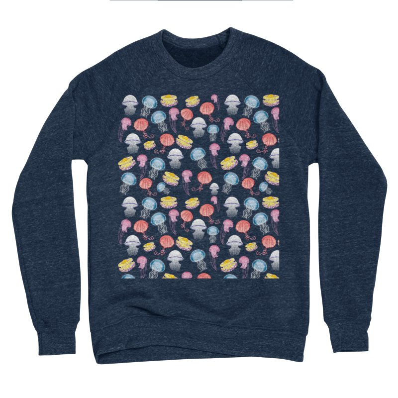 Jellyfishes of the Mediterranean Sea Women's Sponge Fleece Sweatshirt by Tostoini