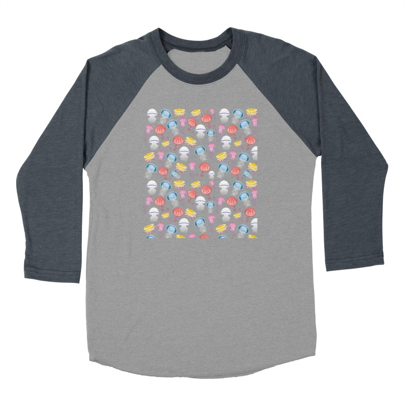 Jellyfishes of the Mediterranean Sea Women's Baseball Triblend Longsleeve T-Shirt by Tostoini