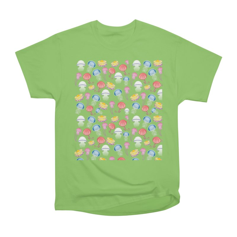 Jellyfishes of the Mediterranean Sea Men's Heavyweight T-Shirt by Tostoini