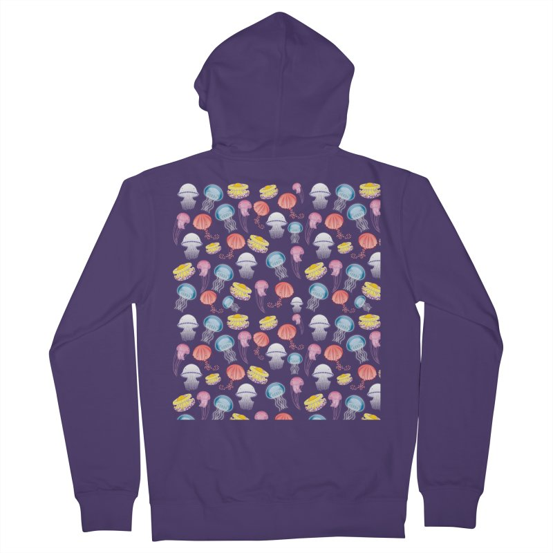 Jellyfishes of the Mediterranean Sea Women's French Terry Zip-Up Hoody by Tostoini