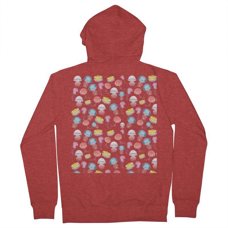 Jellyfishes of the Mediterranean Sea Men's French Terry Zip-Up Hoody by Tostoini