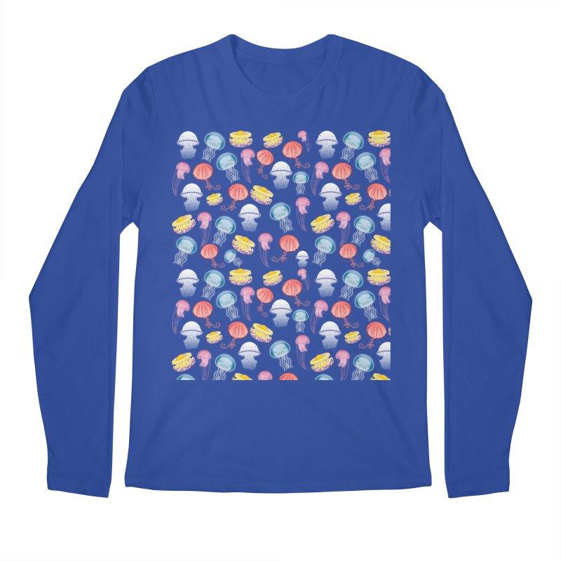 Jellyfishes of the Mediterranean Sea Men's Regular Longsleeve T-Shirt by Tostoini