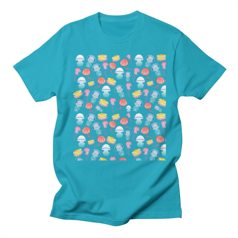 Jellyfishes of the Mediterranean Sea Men's Regular T-Shirt by Tostoini