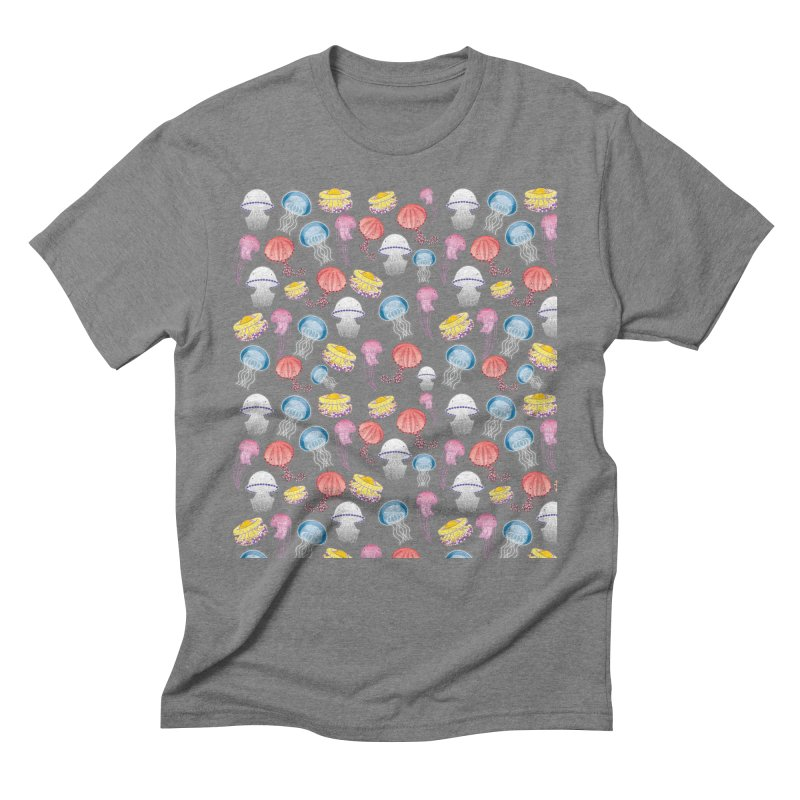 Jellyfishes of the Mediterranean Sea Men's Triblend T-Shirt by Tostoini
