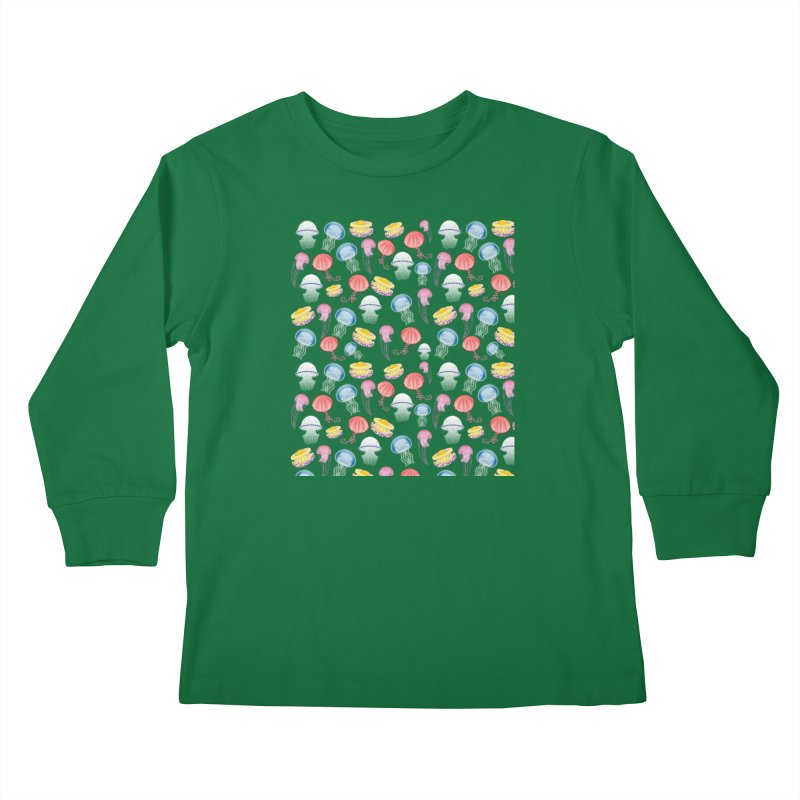 Jellyfishes of the Mediterranean Sea Kids Longsleeve T-Shirt by Tostoini