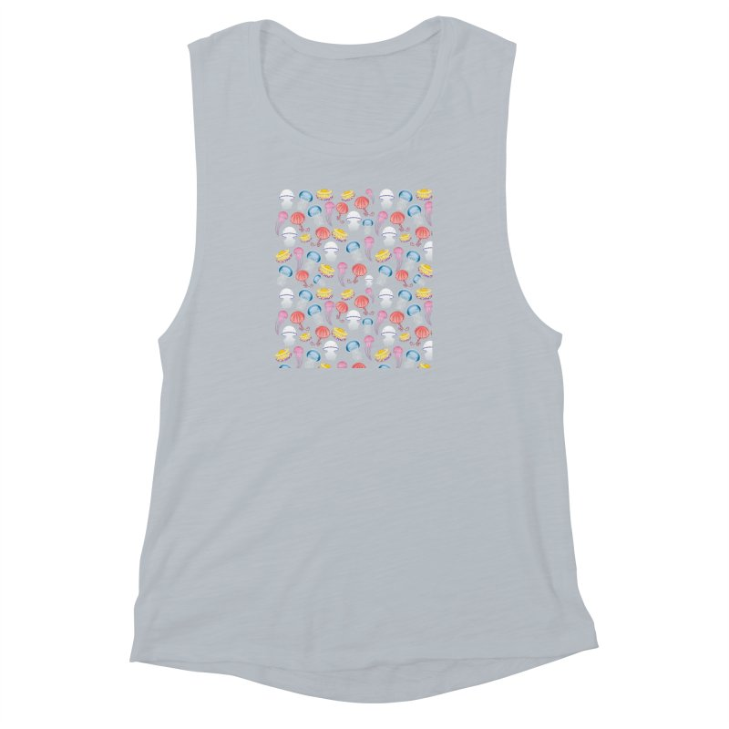 Jellyfishes of the Mediterranean Sea Women's Muscle Tank by Tostoini