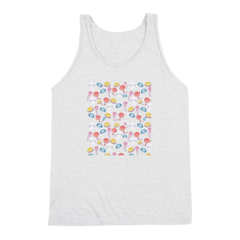 Jellyfishes of the Mediterranean Sea Men's Triblend Tank by Tostoini