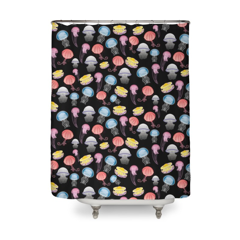 Jellyfishes of the Mediterranean Sea Home Shower Curtain by Tostoini