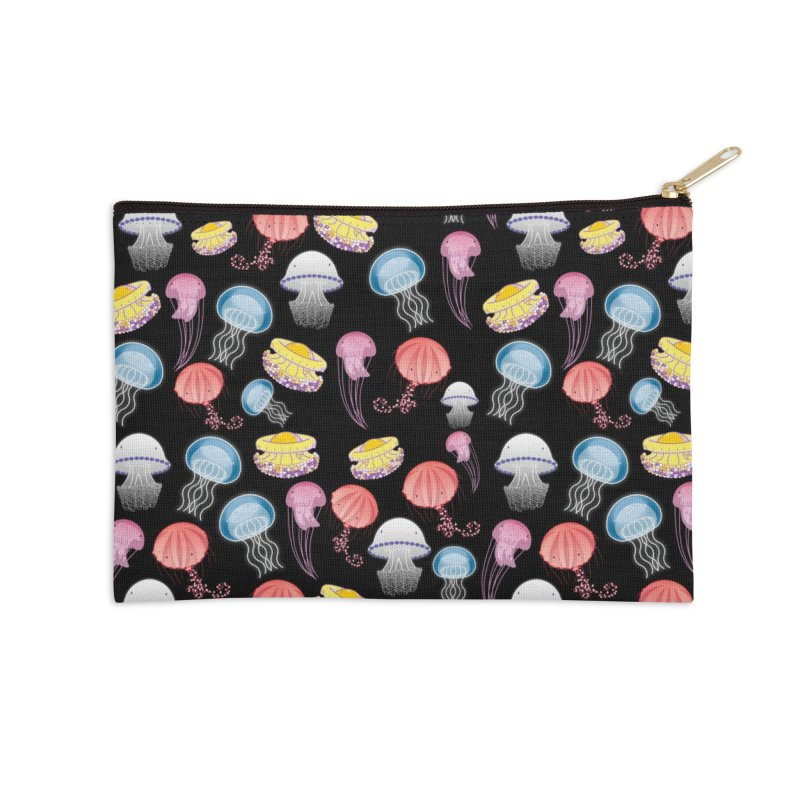 Jellyfishes of the Mediterranean Sea Accessories Zip Pouch by Tostoini