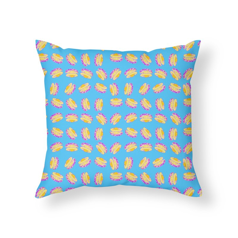 Cothyloriza Tubercolata | Jellyfish of the Mediterranean Sea Home Throw Pillow by Tostoini