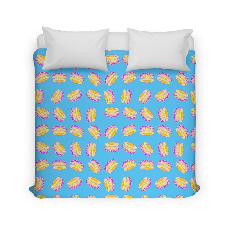 Cothyloriza Tubercolata | Jellyfish of the Mediterranean Sea Home Duvet by Tostoini