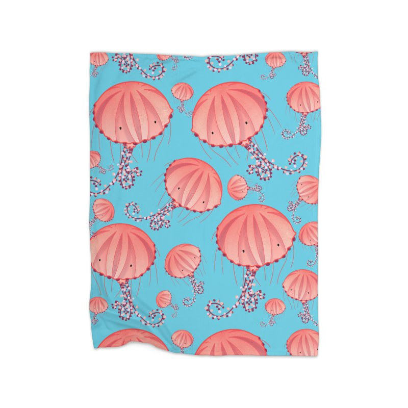 Chrysaora Hysoscella | Jellyfishes of the Mediterranean Sea Home Fleece Blanket Blanket by Tostoini