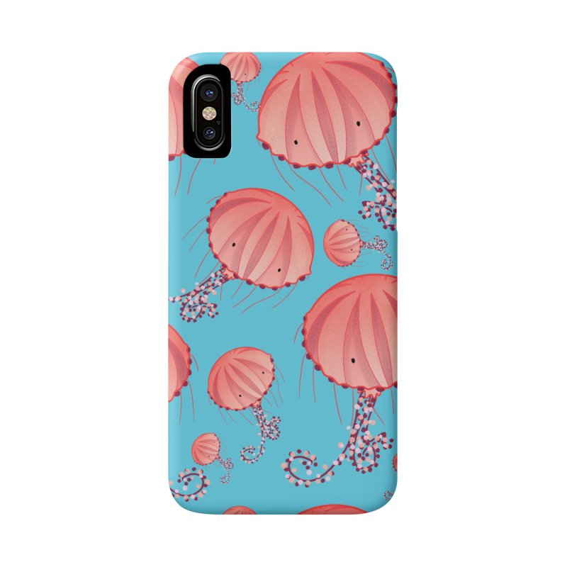 Chrysaora Hysoscella | Jellyfishes of the Mediterranean Sea Accessories Phone Case by Tostoini