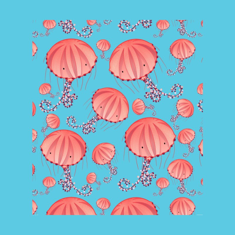 Chrysaora Hysoscella | Jellyfishes of the Mediterranean Sea Home Shower Curtain by Tostoini