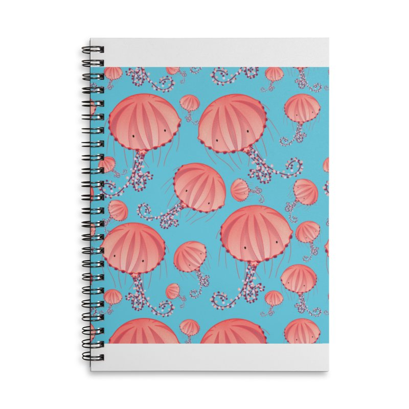 Chrysaora Hysoscella | Jellyfishes of the Mediterranean Sea Accessories Lined Spiral Notebook by Tostoini