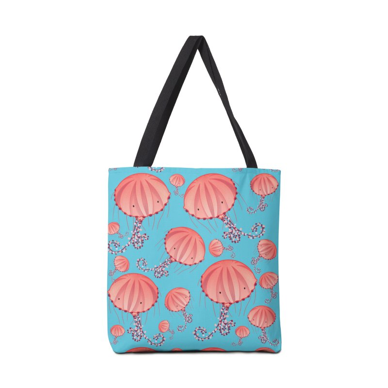 Chrysaora Hysoscella | Jellyfishes of the Mediterranean Sea Accessories Tote Bag Bag by Tostoini