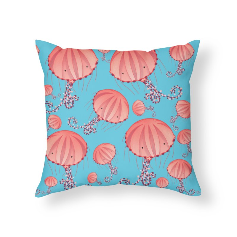 Chrysaora Hysoscella | Jellyfishes of the Mediterranean Sea Home Throw Pillow by Tostoini