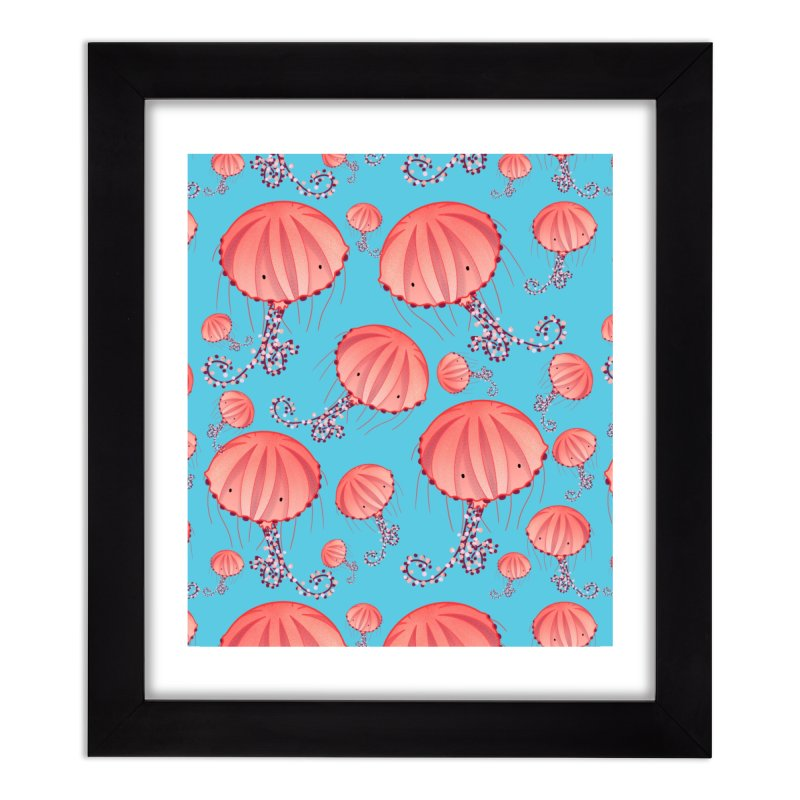 Chrysaora Hysoscella   Jellyfishes of the Mediterranean Sea Home Framed Fine Art Print by Tostoini