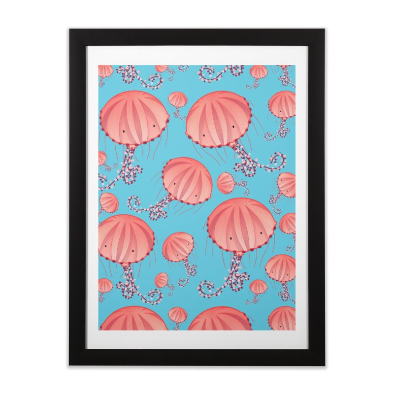 Chrysaora Hysoscella | Jellyfishes of the Mediterranean Sea Home Framed Fine Art Print by Tostoini