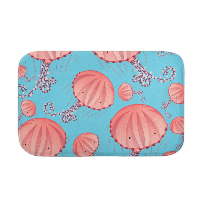 Chrysaora Hysoscella | Jellyfishes of the Mediterranean Sea Home Bath Mat by Tostoini