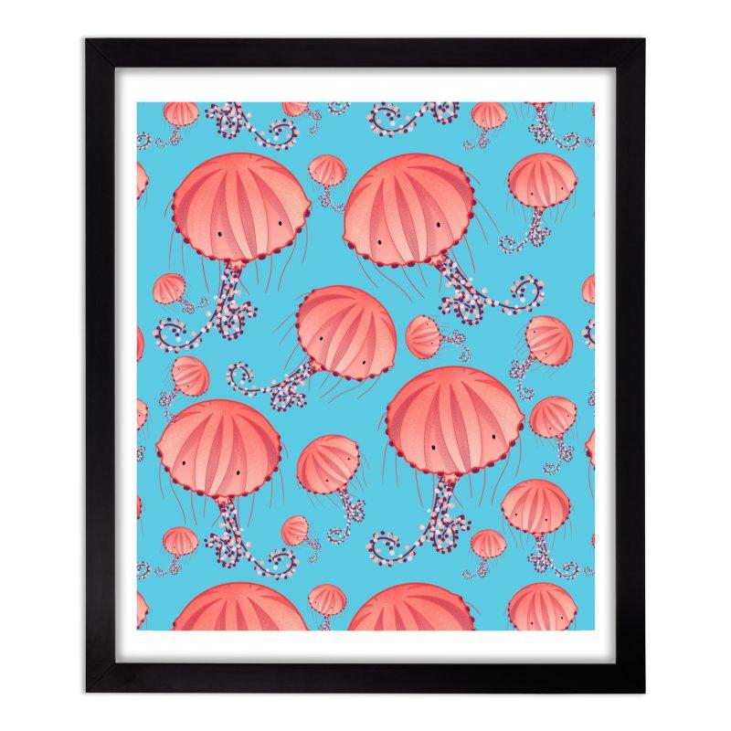 Chrysaora Hysoscella | Jellyfishes of the Mediterranean Sea Home Framed Fine Art Print by Tostoini