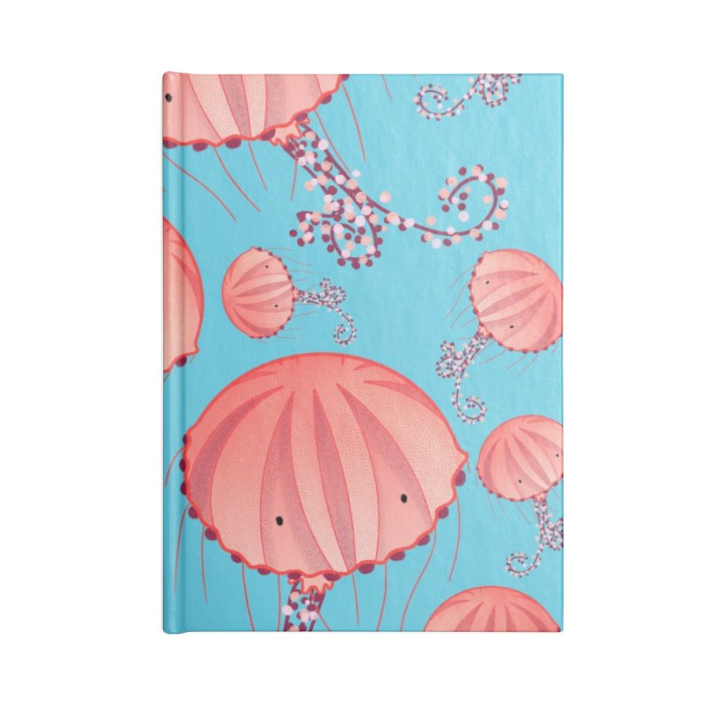 Chrysaora Hysoscella | Jellyfishes of the Mediterranean Sea Accessories Lined Journal Notebook by Tostoini
