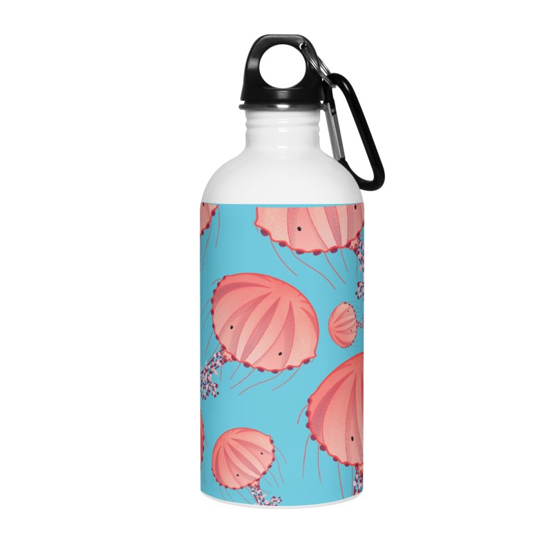 Chrysaora Hysoscella | Jellyfishes of the Mediterranean Sea Accessories Water Bottle by Tostoini
