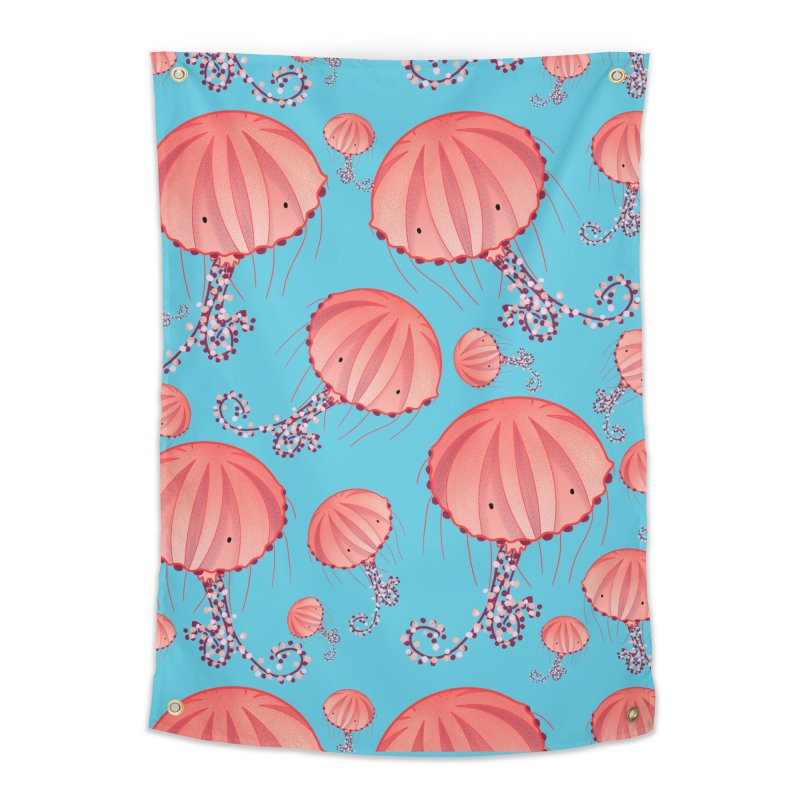 Chrysaora Hysoscella | Jellyfishes of the Mediterranean Sea Home Tapestry by Tostoini