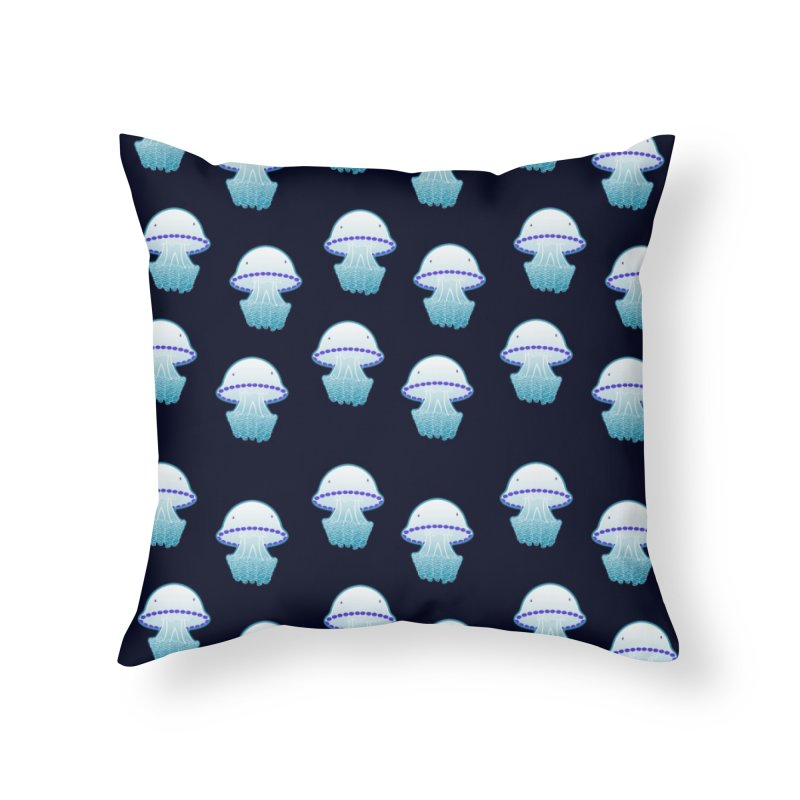 Rhizostoma Pulmo Home Throw Pillow by Tostoini