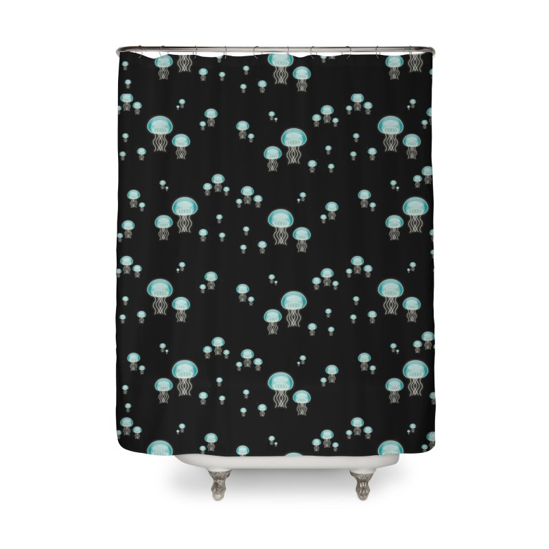 Aurelia Aurita | Jellyfish of the Mediterranean Sea Home Shower Curtain by Tostoini