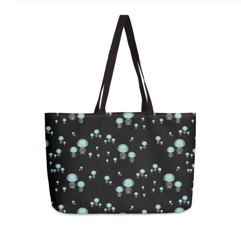 Aurelia Aurita | Jellyfish of the Mediterranean Sea Accessories Weekender Bag Bag by Tostoini