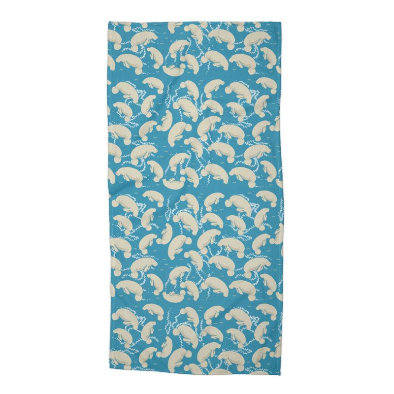 Lamentino the manatee Accessories Beach Towel by Tostoini